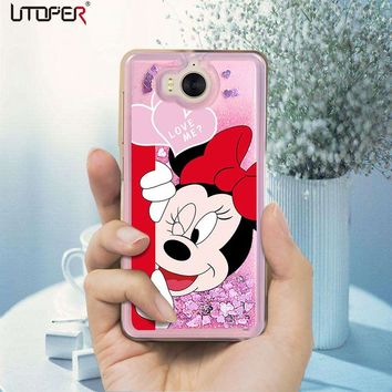 UTOPER Mickey Coque For Huawei Honor 7X Case Silicone Liquid Luxury Mouse Phone Case For Honor 6A 9 10 Lite Case For Nova 2i