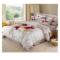Cotton Active floral printing Quilt Duvet Sheet Cover Sets 2.0M/2.2M Bed Size 65