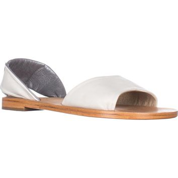 Kelsi Dagger Brooklyn Clarkson Flat Sandals, Sea Salt, 9.5 US / 40 EU
