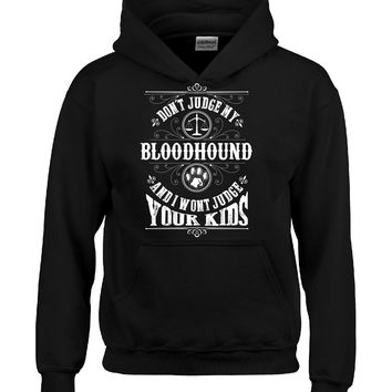 Don t Judge My BLOODHOUND And I Wont Judge Your Kids v2 - Hoodie