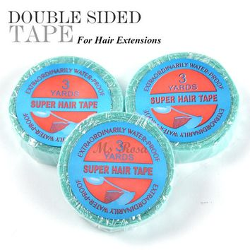 Double-Sided Tape For Hair Extensions Lace Wig Glue Waterproof Hair Adhesive Tape Super Hair Extension Tape