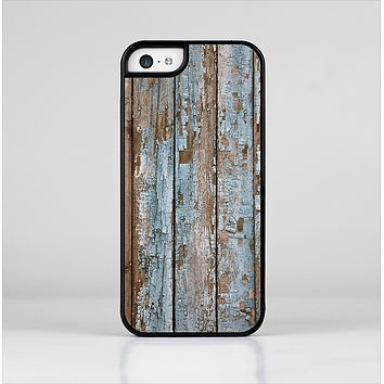 The Wood Planks with Peeled Blue Paint Skin-Sert Case for the Apple iPhone 5c