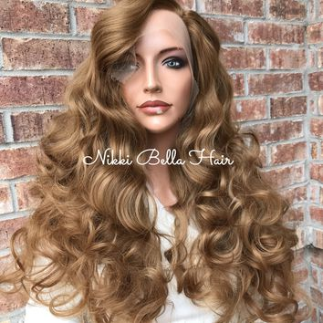"Pima 24"" Dark Blonde Swiss Lace Front Wig /Sale/"