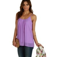 Sale-lavender Easy Going Tank Top