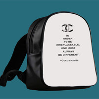 Choco Chanel Quotes for Backpack / Custom Bag / School Bag / Children Bag / Custom School Bag ***