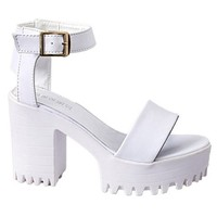 Fashionable Women's Sandals With Chunky Heel and Solid Color Design
