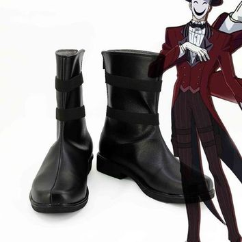 black bullet punk joker hero lolita Halloween cosplay costume sports shoes boots custom single shoes