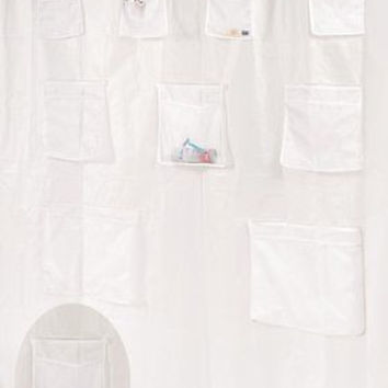"Royal Bath Heavy PEVA Non-Toxic Shower Curtain Liner with 9 Mesh Pockets 70""x72"""
