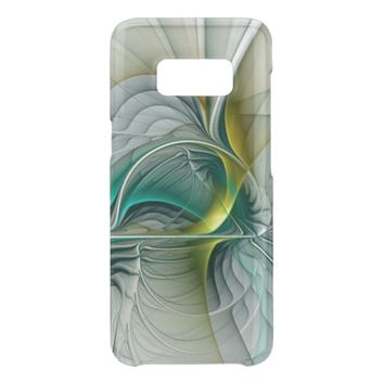 Fractal Evolution, Golden Turquoise Abstract Art Get Uncommon Samsung Galaxy S8 Case
