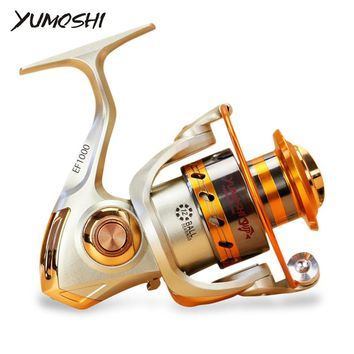 Yumoshi EF1000-7000 12BB 5.2:1 Metal Spinning Fishing Reels Fly Wheel For Fresh/ Salt Water Fishing Tool Accessories