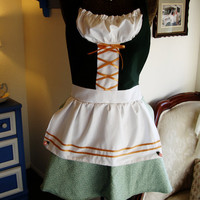 green german dirndl full hostess costume apron by turquoisetiki