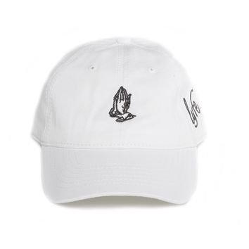 "Praying Hands - White ""Dad"" Cap"