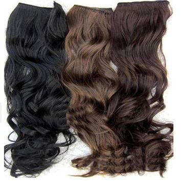 LMFON One Piece Long Curl/Curly/Wavy Hair Extension Clip-on 146  2017 Hot product discount beauty