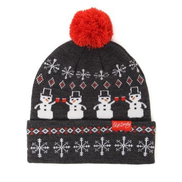 Riot Society Snow Party Man Beanie - Mens Hats - Black - One