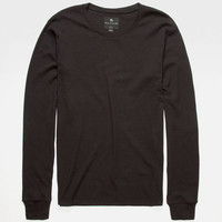 Shouthouse Solid Mens Thermal Charcoal  In Sizes