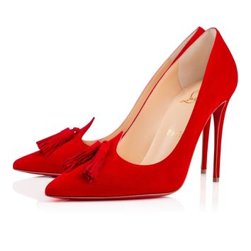 GWALIOR PUMP SUEDE, OEILLET, Suede, Women Shoes, Louboutin.