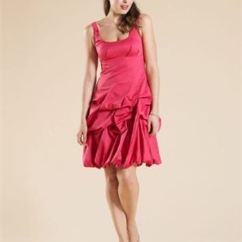 Sexy Square Neckline Mini Skirt with Ruffles Prom Dress PD1865