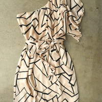 Chic Geometric Angles Dress [3082] - $38.00 : Vintage Inspired Clothing & Affordable Dresses, deloom | Modern. Vintage. Crafted.