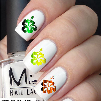 Tie Dye Flower Nail Decal