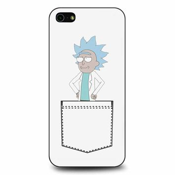 Tiny Rick In The Pocket iPhone 5/5s/SE Case