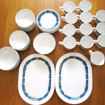 Corning Corelle Centura Evening Song 38 Pc. Set Cup Bowls Platter Creamer Saucer