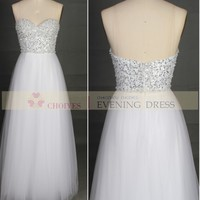 AO50773A-1 Pure White Off-shoulder Floor Length Evening Gown