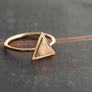 Gold Filled Triangle Ring - Made to Order