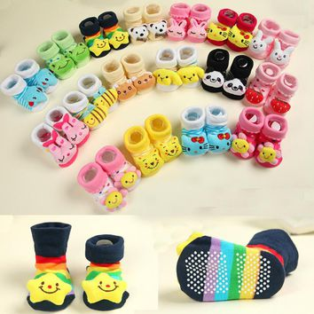 Free Baby Socks With Rubber Soles For Boy Or Girl