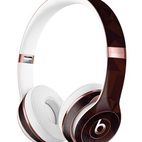 Dark Copper Abstract Geometric Shapes Full-Body Skin Kit for the Beats by Dre Solo 3 Wireless Headphones