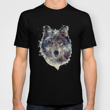 Wolf // Persevere T-shirt by Amy Hamilton
