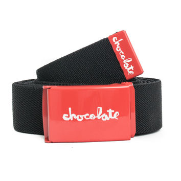 Chocolate, Red Square Stretch Belt - Black - Belts - MOOSE Limited