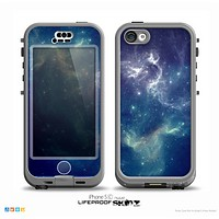 The Subtle Blue & White Faced Cats Skin for the iPhone 5c nüüd LifeProof Case