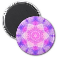 Space galaxy pink blue stars inspiring tumblr 2 inch round magnet