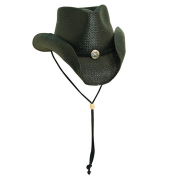 Scala Unisex Shapeable Outback With Concho Western Hat