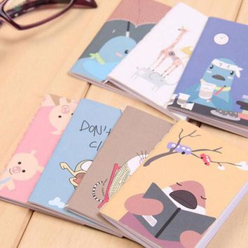 DCCKL72 8x6cm 20pages/sheet lovely cartoon image notebook Vintage Retro Notepad Book for Kids Korean Stationery Free shipping