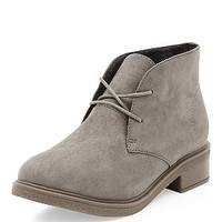 Teens Grey Lace Up Desert Boots