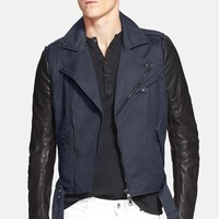 Men's Pierre Balmain Waxed Moto Jacket