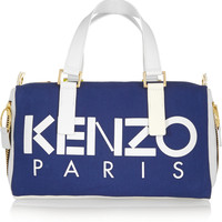 KENZO - Neon canvas and leather tote