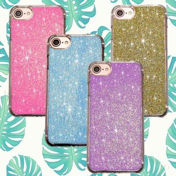 Luxury Bling Neon Real Glitter Fluo Sparkle Cover Case for iPhone Sony Samsung | eBay