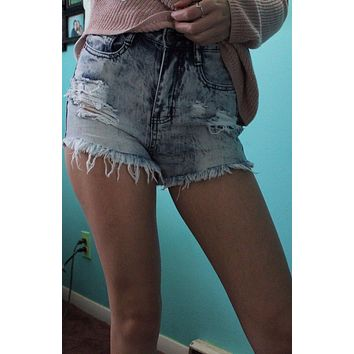 Machine Jeans Destroyed High Waist Jean Shorts White Crochet Lace Pockets Distressed Hi Waisted Festival Cutoffs With Holes Small Medium Or Large