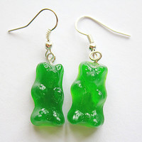 Lime Gummy Bear Earrings