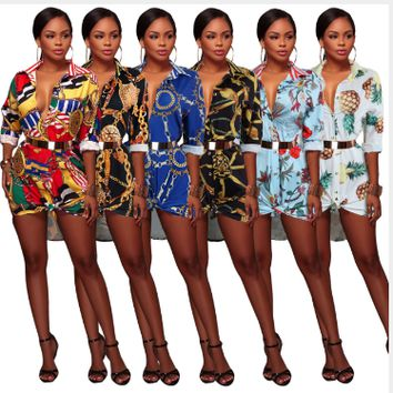 Womens Dress Sexy V Neck Summer Vintage Floral Print Office Mini Dresses Bodycon Sheath Work
