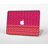 The Tall Pink & Orange Vintage Pattern Skin Set for the Apple MacBook Air 13""