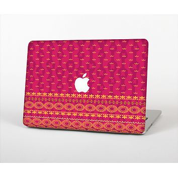 """The Tall Pink & Orange Vintage Pattern Skin Set for the Apple MacBook Air 13"""""""