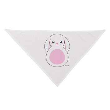 TooLoud Cute Bunny with Floppy Ears - Pink Dog Bandana 26