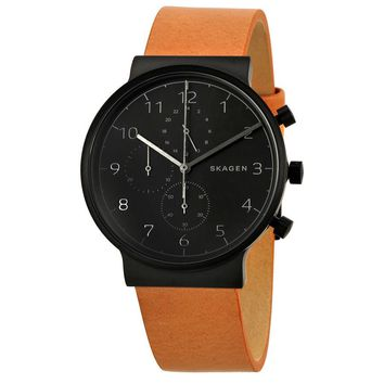 Skagen Ancher Black Dial Mens Chronograph Watch SKW6359