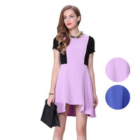 Casual Chiffon Flounce Mini Dress