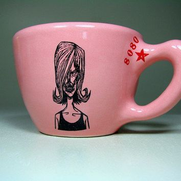 12oz cup zombie number c bubblegum  Made to Order by CircaCeramics