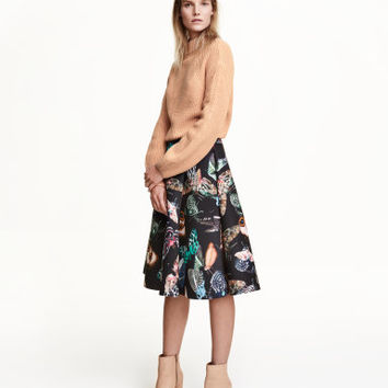 H&M Patterned Scuba-look Skirt $59.99