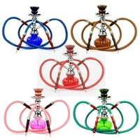 Zebra Smoke 2 Hoses Pumkin Hookah - Color Varies